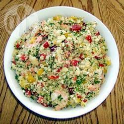 Couscoussalade met garnalen recept