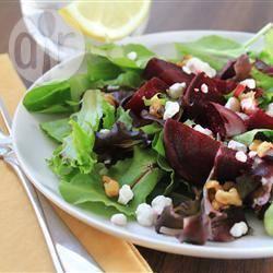 Rode biet en geitenkaas salade recept