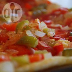 Geroosterde groenten en feta bladerdeeg taart recept