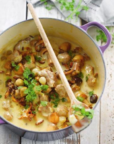 Recept 'kalfsblanquette met champignons'