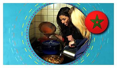 Recept 'zoete tajine met kip en gekarameliseerde peren'