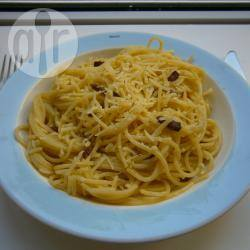Een lichte spaghetti carbonara recept