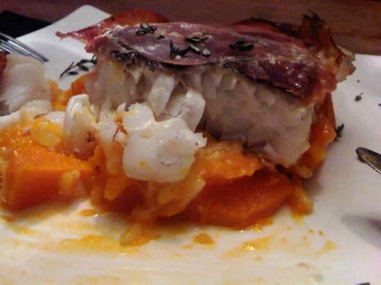Kabeljauw op een bootje van pompoen en risotto recept ...
