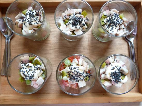 Gerookte paling uit een glaasje recept