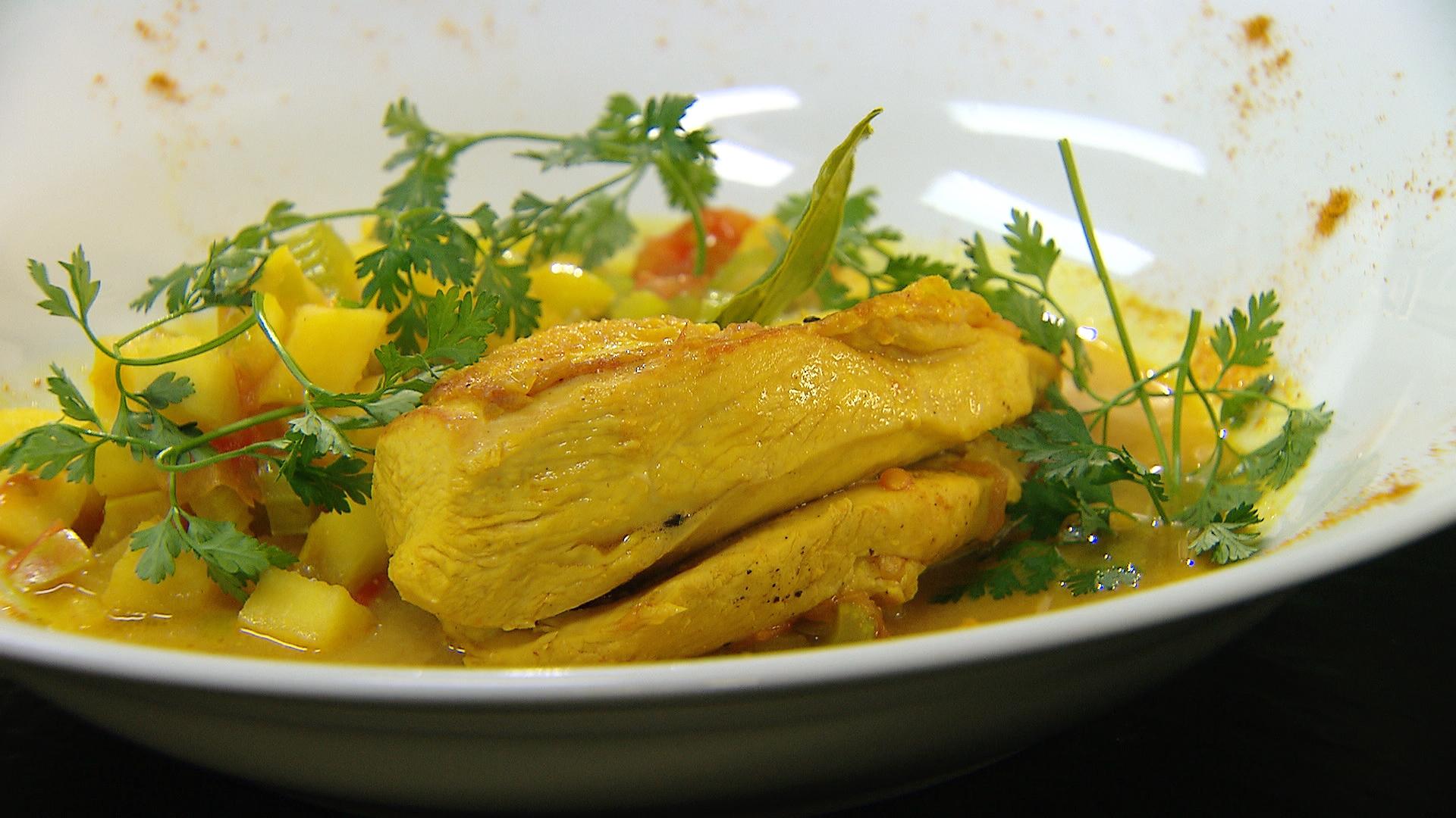 Kip met curry
