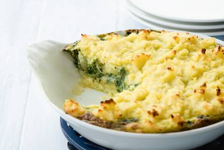 Ovenschotel van spinazie met kaas