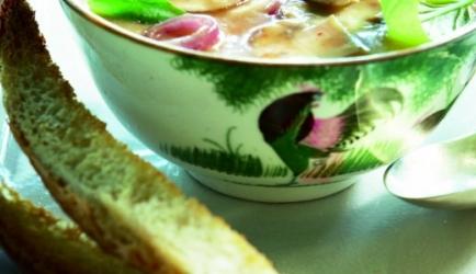 Thaise bouillon met kip recept