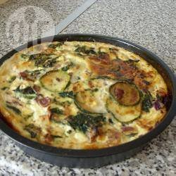 Quiche met spinazie, courgette en prei recept
