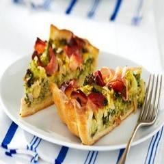 Hartige taart met broccoli en ham recept