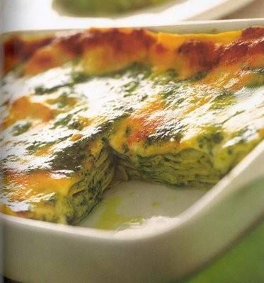 pesto lasagne recept