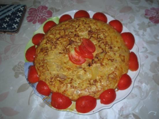 Tortilla met aardappelen,ajuin,tonijn,olijven recept