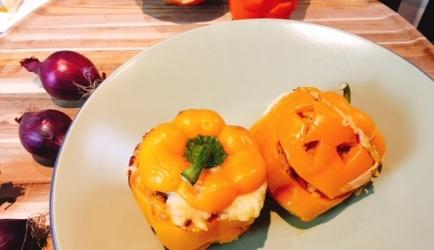 Halloween gevulde paprika's recept