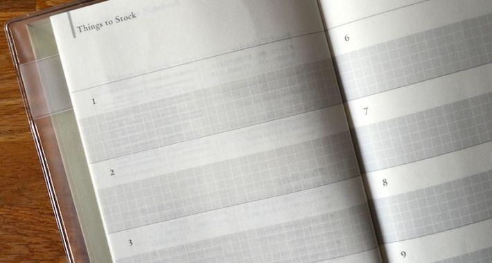 Recepten dagboek van opschrijfboekjes