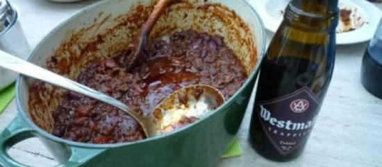 Texas & trappist chili con carne recept