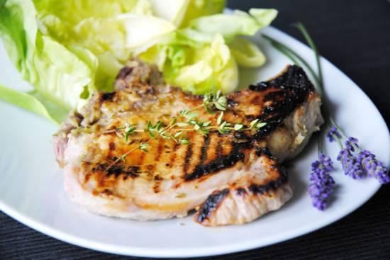 Varkenskoteletten in lavendelmarinade recept