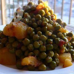 Griekse erwten met tomaat en dille recept