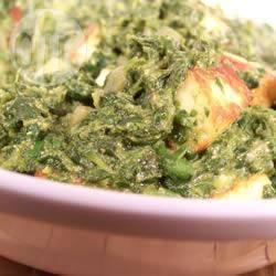 Palak paneer (spinazie met indiase roomkaas) recept