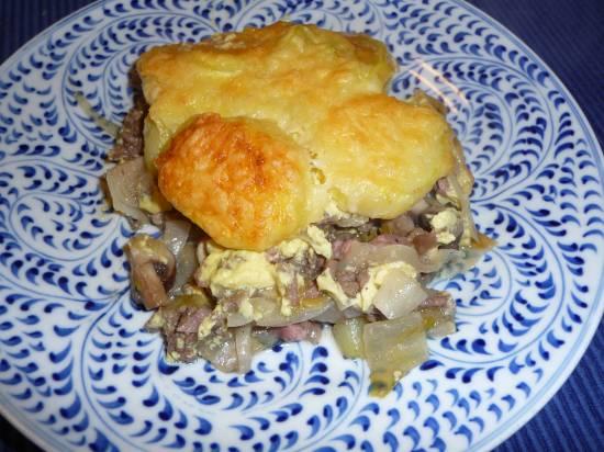 Ovenschotel met witlof, gehakt en (kastanje)champignons recept ...