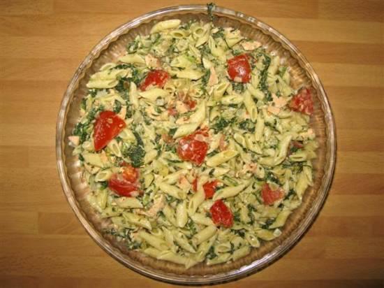 Pasta zalm spinazie schotel**** recept