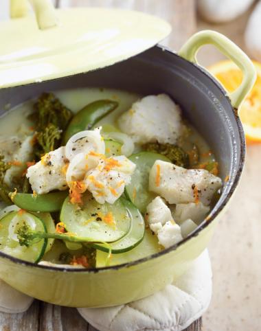 Recept 'stoofpotje van witvis met sinaasappel'