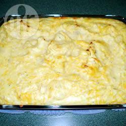 Witte kool met aardappelpuree uit de oven recept