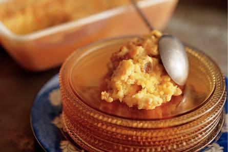 Gebakken rijstpudding met saffraan
