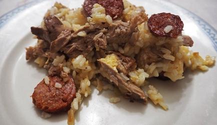 Arroz de pato rijst met eend recept