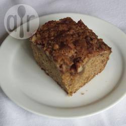 Havermoutcake met een pecannoten kruimellaag recept