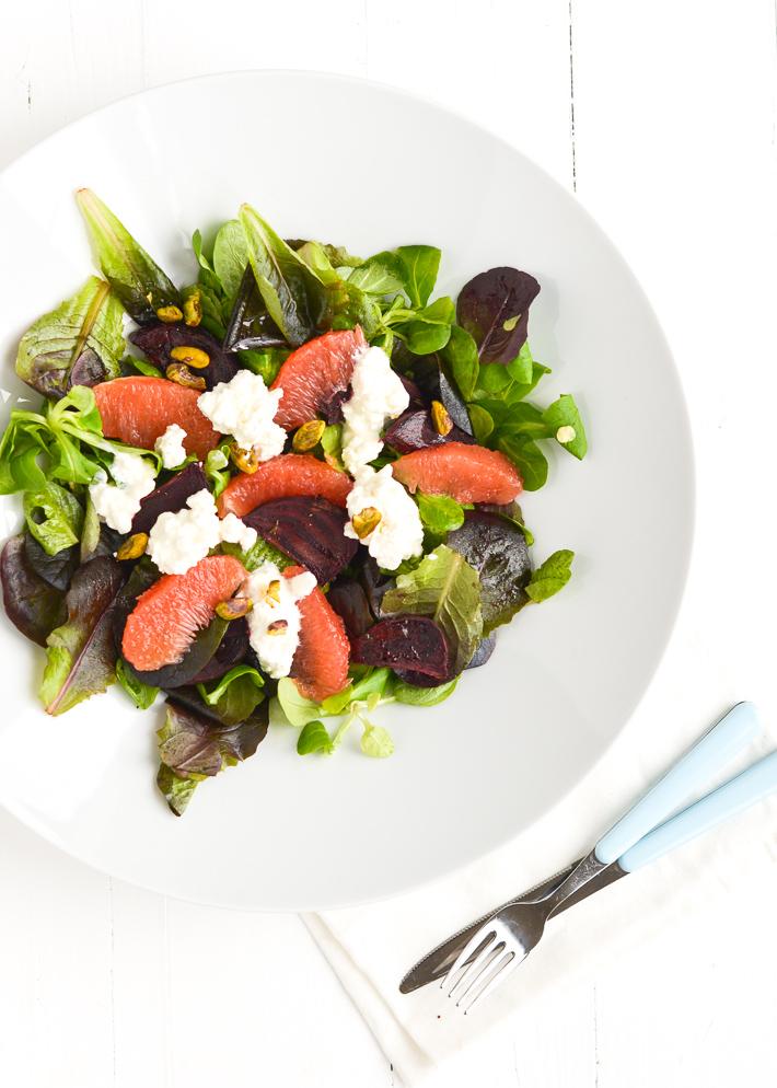 Salade met bietjes en grapefruit