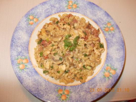 Pasta met kip à la romana recept