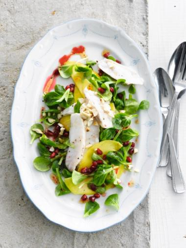 Recept 'salade van zeeduivel met mango'