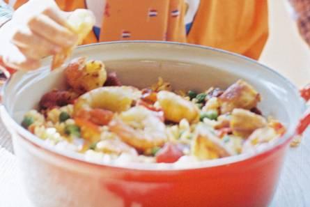 Rijkgevulde paella