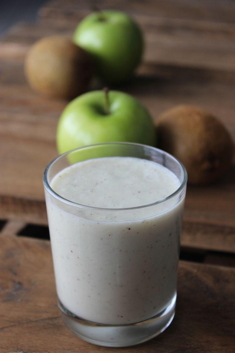 Recept 'milkshake met kiwi en appel'