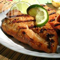 Honing-limoen kip van de barbecue recept