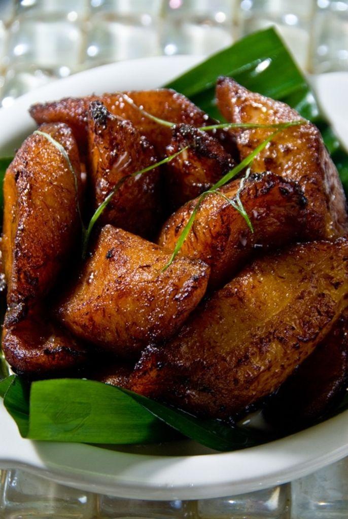 Recept 'bakbananen met rum en munt'