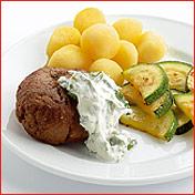 Gyros gehaktballen met yoghurt-muntsaus recept