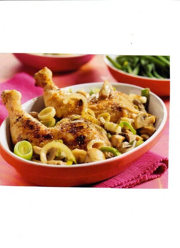 Stoofschotel van kip met mosterd recept
