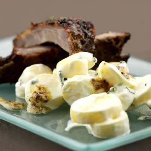 Aardappelsalade met yoghurt recept