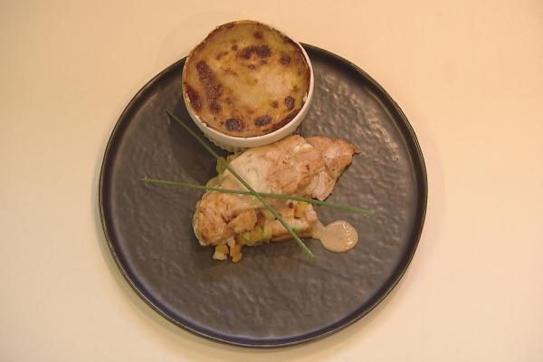 Bbq kip met gratin dauphinois en warme groentjes