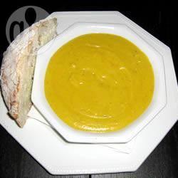 Pompoensoep met maïs recept