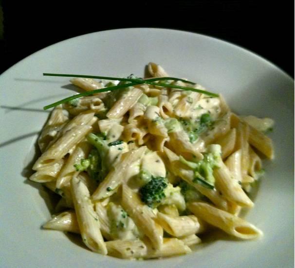 Penne met broccoli-boursin saus recept