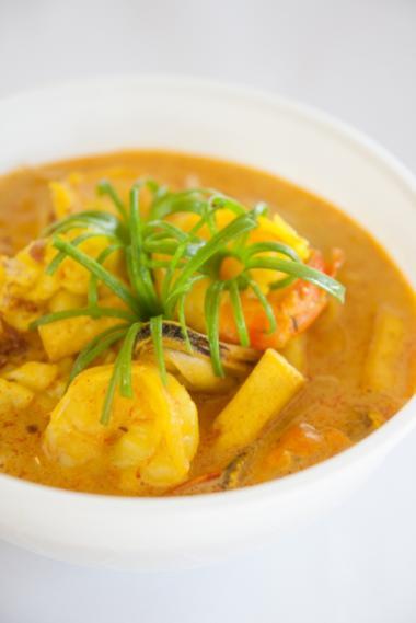 Recept 'tijgergarnalen met mango en curry'