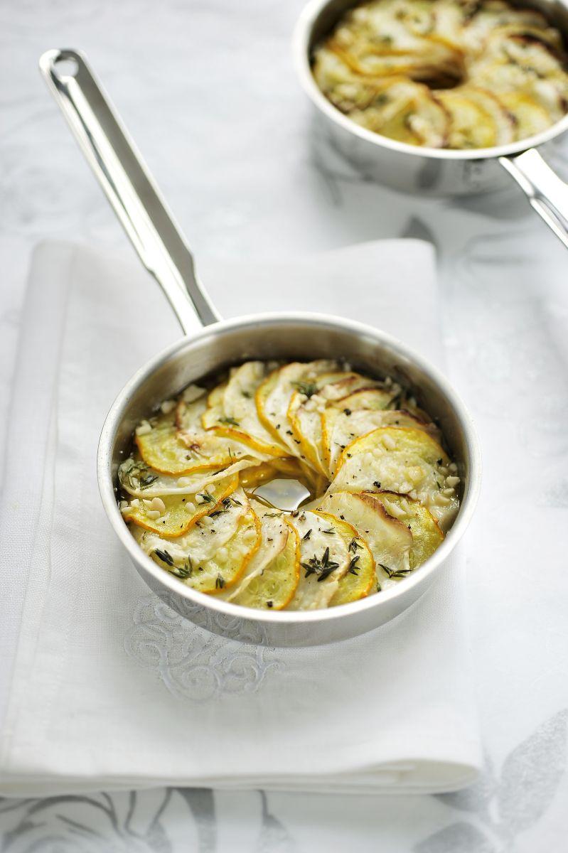 Recept 'groentetaartje van knolselder en courgette'