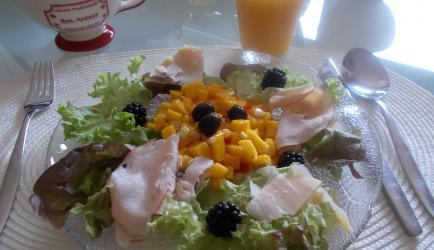 Verrukkelijke salade met kipfilet en pittige mango-salsa recept ...