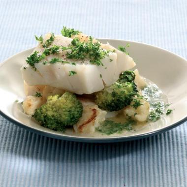 Recept 'kabeljauw met bloemkool en broccoli'