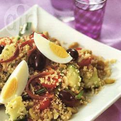 Couscous en flageolets niçoise recept