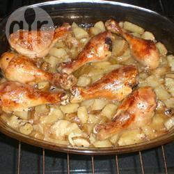 Kip en aardappelen met knoflook uit de oven recept