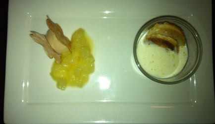 Parmezaansoep bon lloc met olijfolie en brood recept