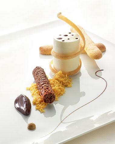 Recept 'tiramisu met mousse van mascarpone'