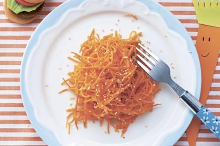 Wortelsalade met sinaasappel en honing